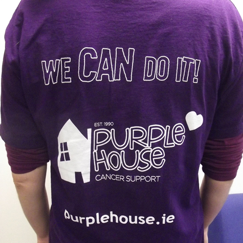 purple house round neck tshirt